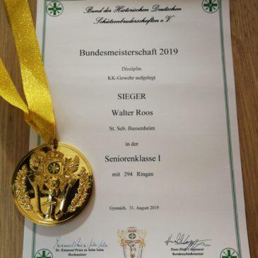 Bundesmeisterschaften 2019 – Walter Roos deutscher Meister !